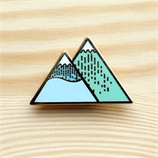 Winter Mountain Brooch-brooches-The Vault