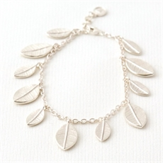 Whalebird Leaf Fall Bracelet - Silver-bracelets-and-cuffs-The Vault