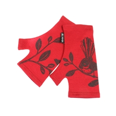Merino Mitts Short Fantail Ruby-jill-main-The Vault