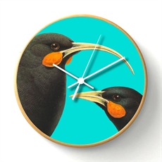 Bright Huia Wooden Frame Clock-artists-The Vault