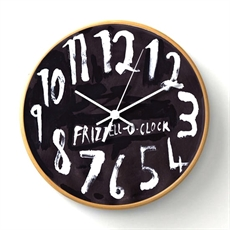 Frizzell O- Clock Wooden Frame Black-clocks-The Vault