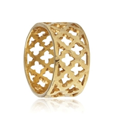 Toledo Ring - Stg Gold Plate-kerry-rocks-The Vault