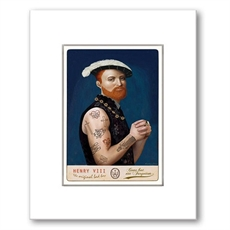 Henry VIII Black Frame-wall-art-and-prints-The Vault