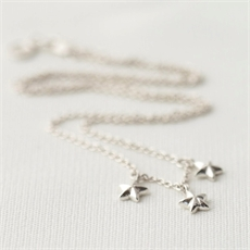 Star Necklace Stg Silver-necklaces-The Vault