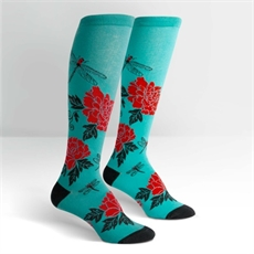 Female Knee High Peonies -clothing-and-accessories-The Vault