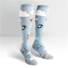 Raining Cats and Dogs Knee High Socks -clothing-and-accessories-The Vault