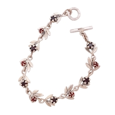 Red Manuka Bracelet Stg Garnet-jewellery-The Vault