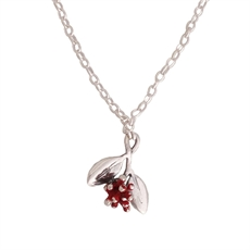 Pohutukawa Blossom Necklace Silver-necklaces-The Vault