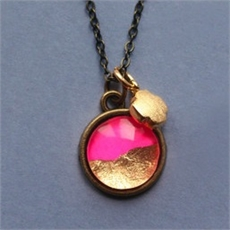Petite Pink & Gold Foil Necklace-jewellery-The Vault
