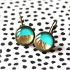 Turquoise & Gold Foil Earrings-jewellery-The Vault