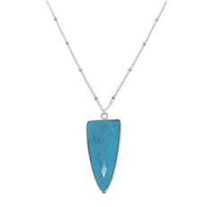 Spear Necklace Turquoise Short-pam-kerr-The Vault