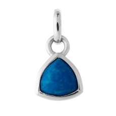 Trillion Silver Charm Lapis-jewellery-The Vault