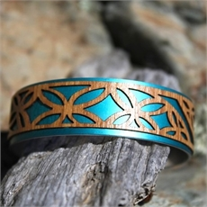 Narrow Veneer Cuff Tivaev Aqua-jill-main-The Vault