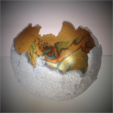 Small Orb Concrete w Gold Leaf-house-The Vault