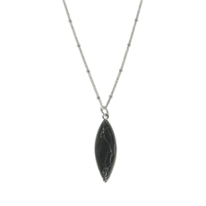 Black Howlite Rhoduim Necklace Short-pam-kerr-The Vault
