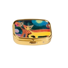 Pill Box Wachtmeister Cat with Sun-for-her-The Vault