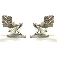 Silver Fantail Studs-earrings-The Vault
