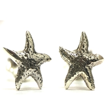 Silver Small Starfish Studs-earrings-The Vault
