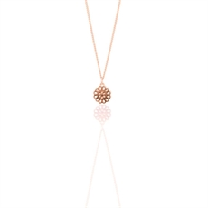 9ct Rose Gold Lotus Petite Pendant  -jewellery-The Vault