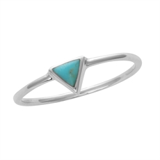 Silver Triangle Ring – Turquoise-jewellery-The Vault