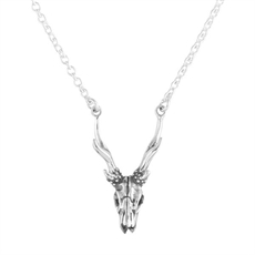 Dainty Skull Necklace-necklaces-The Vault