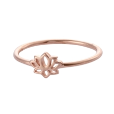 Tiny Lotus Ring – Rose Gold-rings-The Vault