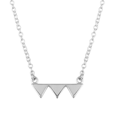 Triple Triangle Necklace-necklaces-The Vault