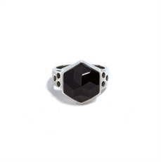 Silver Six Reasons Ring Onyx -jewellery-The Vault