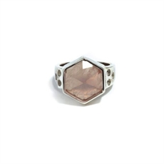 Silver Six Reasons Ring Rose Quartz-jewellery-The Vault