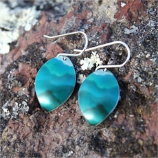 Alum Southern Alps Earrings Teal-earrings-The Vault