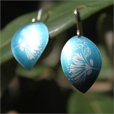 Alum Pohutukawa Rose Earrings Petrel-jewellery-The Vault