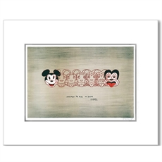 Frizzell Mickey to Tiki A2 Print Framed -wall-art-and-prints-The Vault