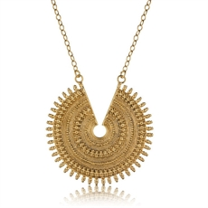 Ancient Sun Necklace 18ct Gold Plate-necklaces-The Vault