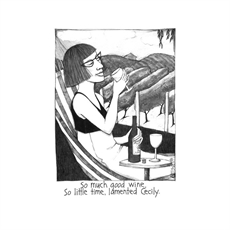 Cecily Teatowel Good Wine-woman-The Vault