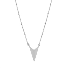 Silver Arrow Head Necklace Short -jewellery-The Vault