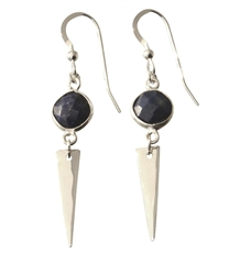 Spear Drop Earrings Lapis Lazuli -earrings-The Vault