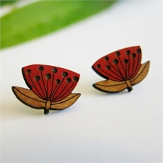 Pohutukawa Earrings -earrings-The Vault