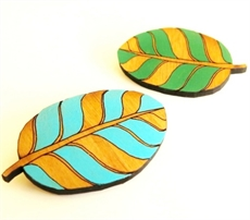 Small Leaf Brooch Teal -jewellery-The Vault