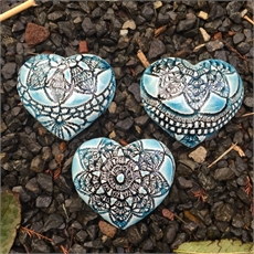 Robyn Kunin Small Ceramic Heart-glass-and-ceramics-The Vault
