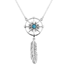 Not All Who Wander Pendant with Feather-necklaces-The Vault