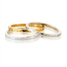 Forged Band 18ct Gold Plate-kerry-rocks-The Vault
