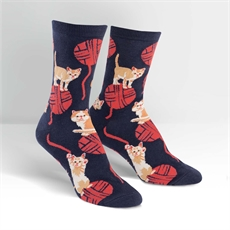Women's Crew Socks Kitten Knitten-new-The Vault