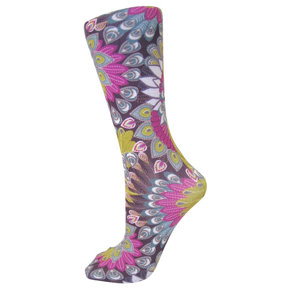 Trouser Socks Purple Peacock - - OSNZ