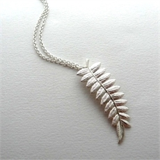 Hudson Big Fern Pendant Silver-jewellery-The Vault