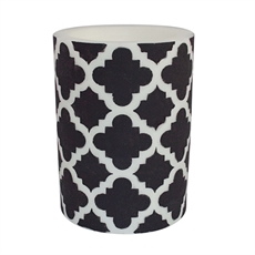 "Beeswax Candle 6"" Moroccan Pillar – Blk-house-The Vault"