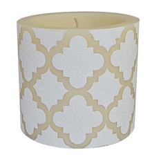 "Beeswax Candle 4"" Moroccan – White-woman-The Vault"