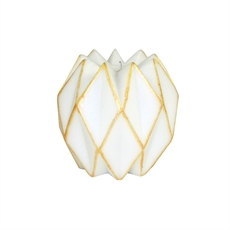 Beeswax Candle Origami – White & Gold-house-The Vault