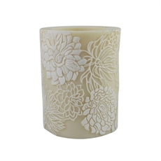 Beeswax Candle Crysanthemum – White-house-The Vault