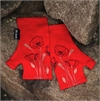 Merino Mitts Short Poppy Red-for-her-The Vault