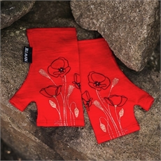 Merino Mitts Short Poppy Red-clothing-and-accessories-The Vault